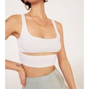 Nasty gal cut out for the count ribbed crop
